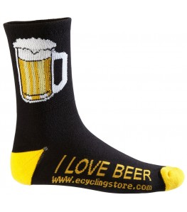 Beer Mug Cycling Socks Black/Yellow