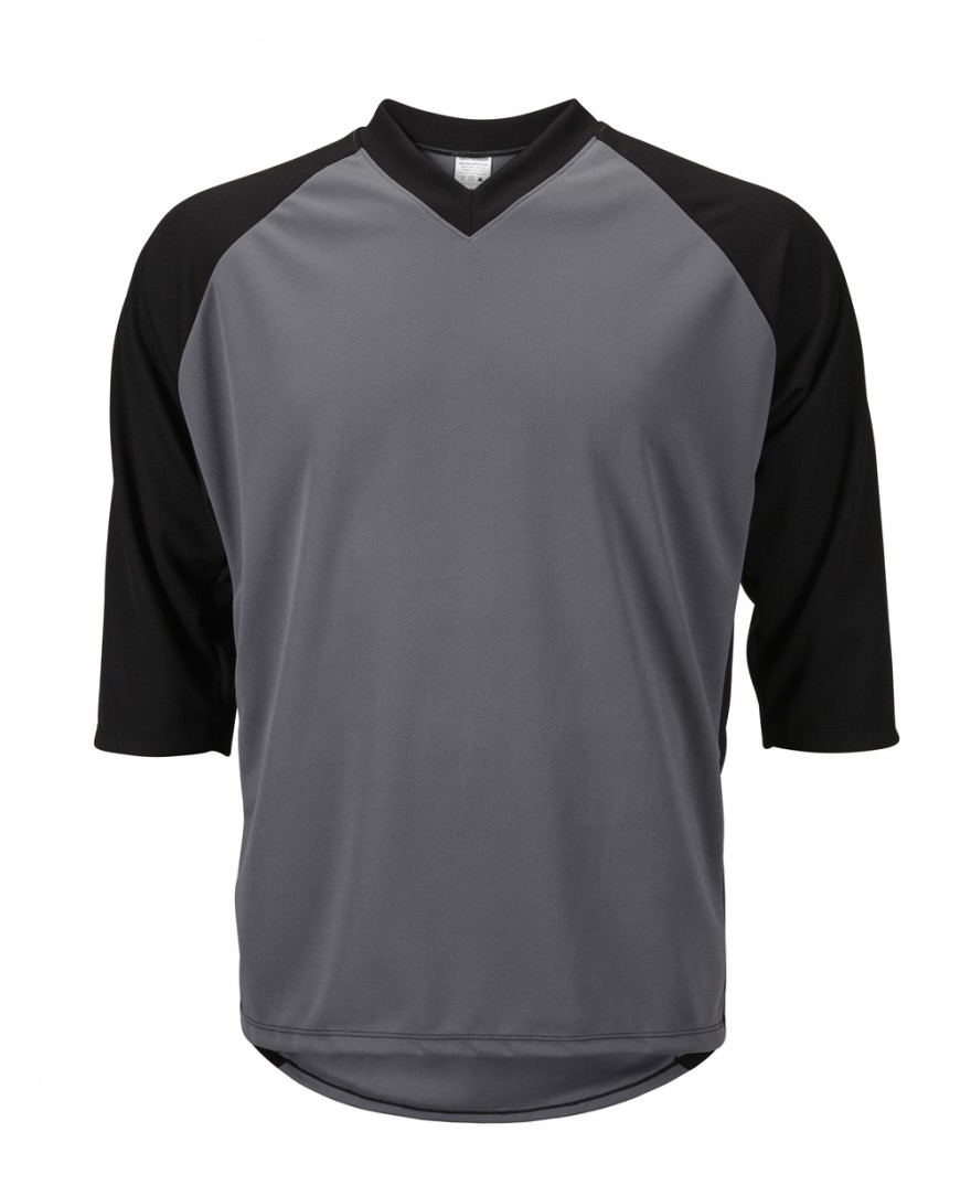 eCycle Mens 3/4 Sleeve Mountain Bike Jersey Gray/Black