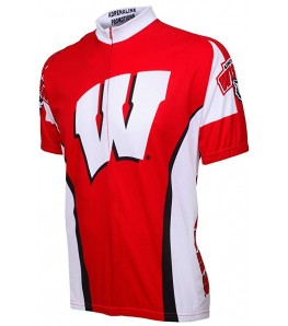 Wisconsin University Badgers Mens Cycling Jersey