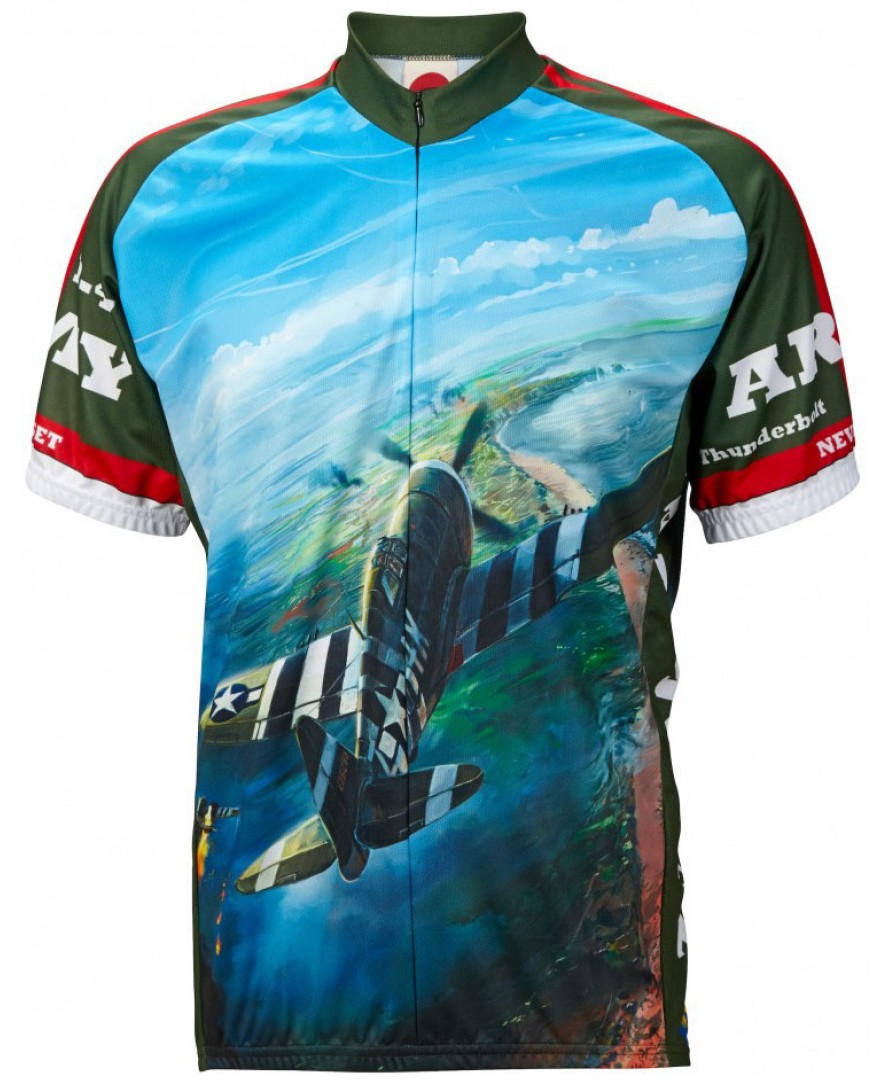 P-47 Army Air Mens Cycling Jersey