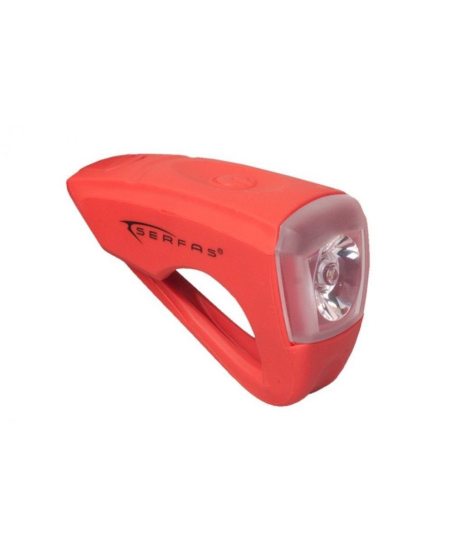 Serfas USB Silicone Rechargable Front Light Red