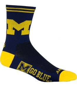 Michigan University Wolverines Cycling Socks