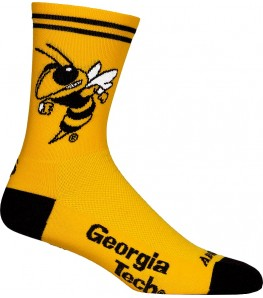 Georgia Tech Buzz Cycling Socks