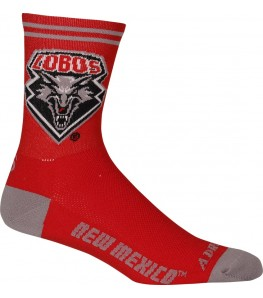 New Mexico University Lobos Cycling Socks