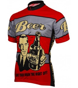 Beer! Give Your Brain the Night Off Mens Cycling Jersey