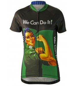 Rosie the Riveter Womens Cycling Jersey Green