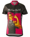 Rosie the Riveter Womens Cycling Jersey Pink