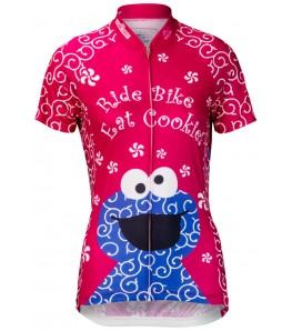 Cookie Monster Womens Cycling Jersey Pink