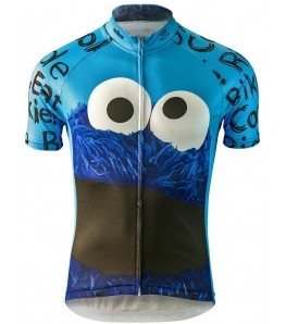 Cookie Monster Ride Bike Eat Cookie Mens Cycling Jersey
