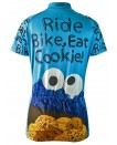 Cookie Monster Ride Bike Eat Cookie Womens Cycling Jersey