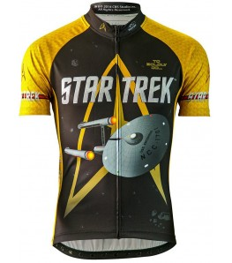 Star Trek Command Mens Cycling Jersey Gold