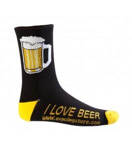 Beer Mug Cycling Socks Black/Yellow
