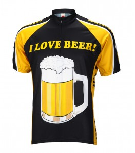 I Love Beer Mens Cycling Jersey