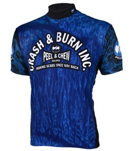 Precaryous Crash & Burn Jersey Blue