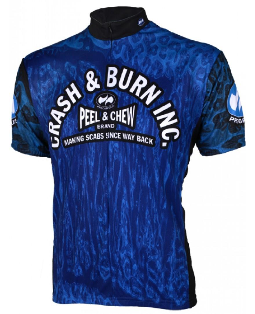 Precaryous Crash & Burn Jersey Blue