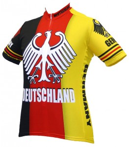 World Jerseys Deutschland Team Mens Cycling Jersey