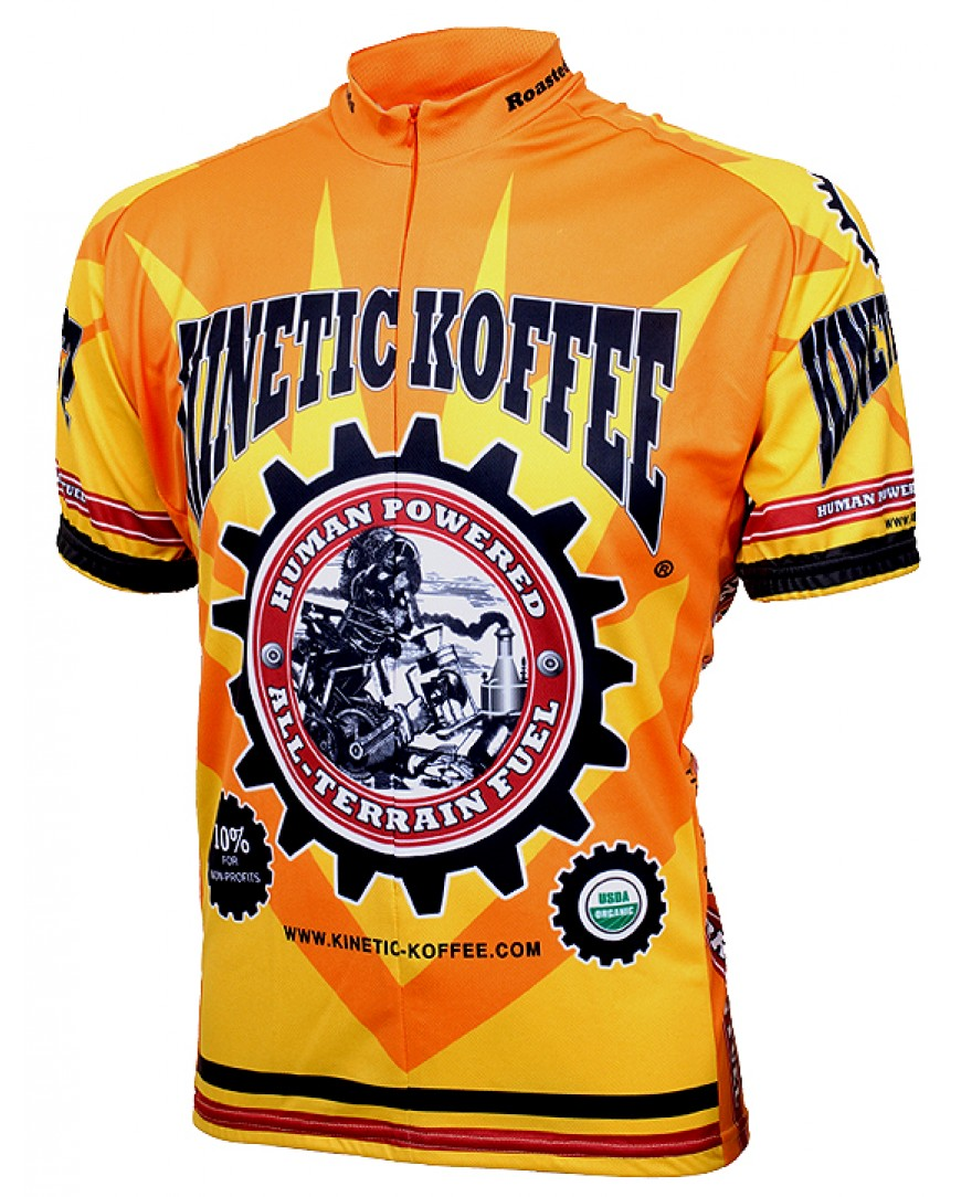World Jerseys Kinetic Koffee Team Cycling Jersey