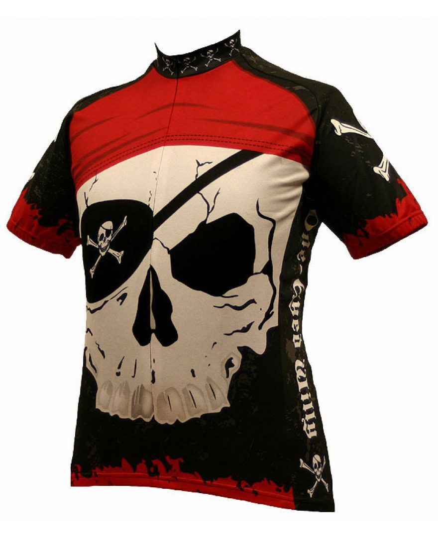 World Jerseys One Eyed Willy Pirate Cycling Jersey