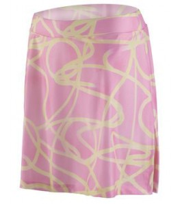 eCycle Womens Cycling Skirt Pink Swirly