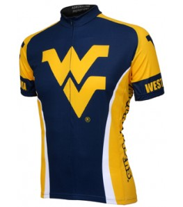 College Cycling Clothing West Virginia Cycling Jersey