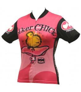 Precaryous Biker Chick Short Sleeve Jersey Pink