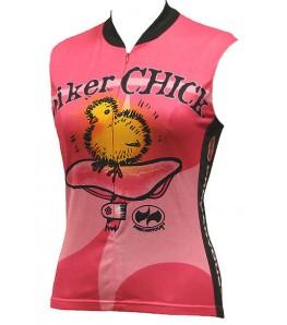 Precaryous Biker Chick Sleeveless Jersey Pink