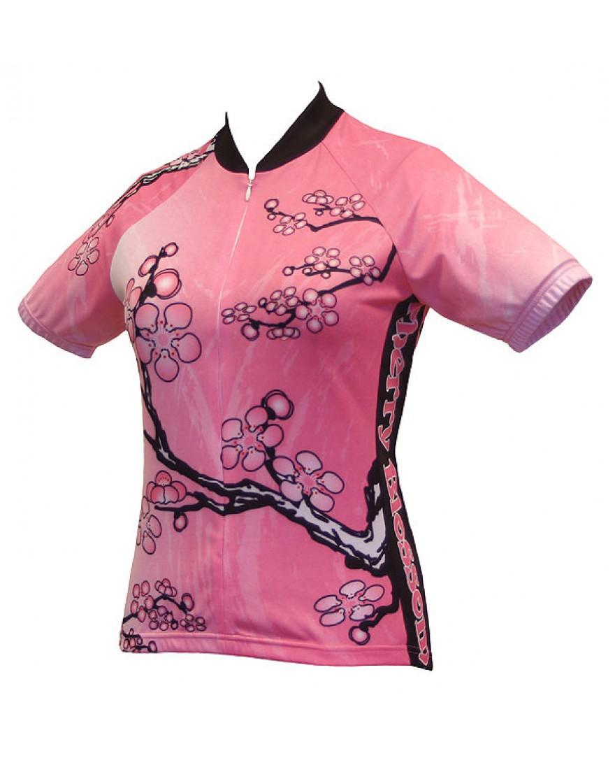 World Jerseys Cherry Blossom Womens Cycling Jersey