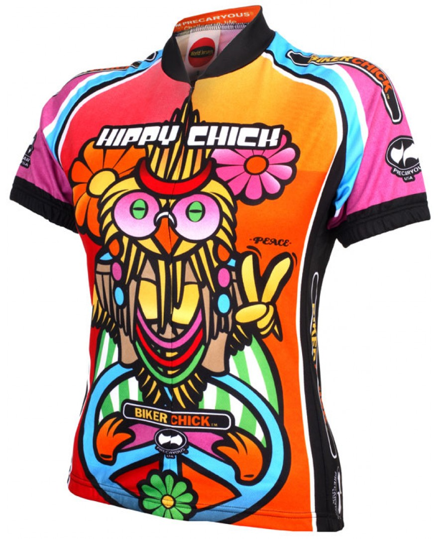 Precaryous Hippy Chick Short Sleeve Womens Jersey