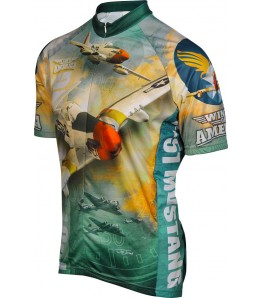 WWII P-51 Mustang Airplane Cycling Jersey