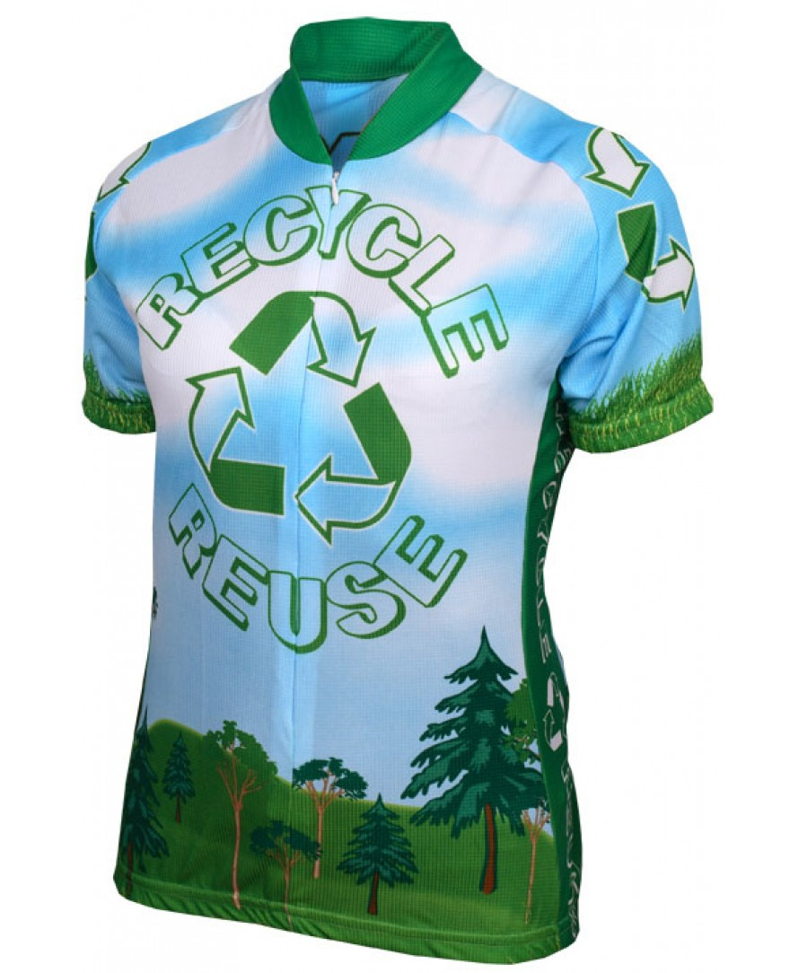 Recycle Reuse Womens Cycling Jersey