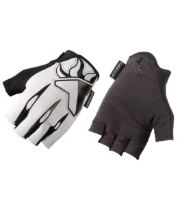 THE Skinz Half Finger Gloves White