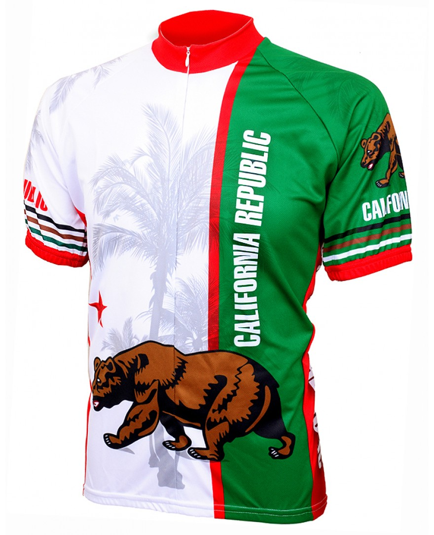 World Jerseys California Flag Mens Cycling Jersey