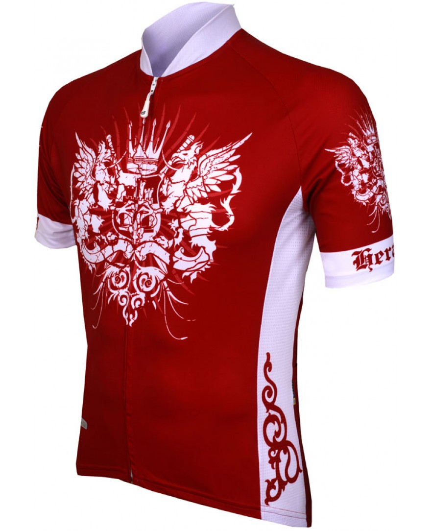 eCycle Heraldry Mens Cycling Jersey Red