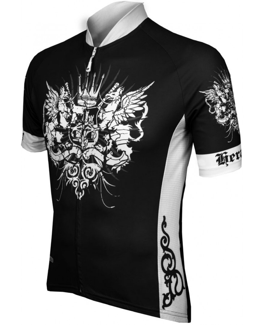 eCycle Heraldry Mens Cycling Jersey Black