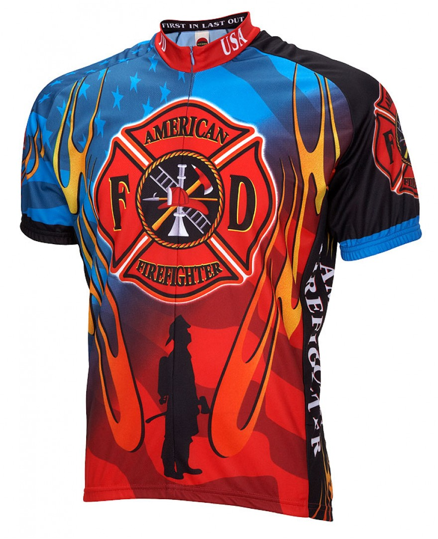 American Firefighter Mens Cycling Jersey
