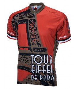 Paris Travel Mens Cycling Jersey