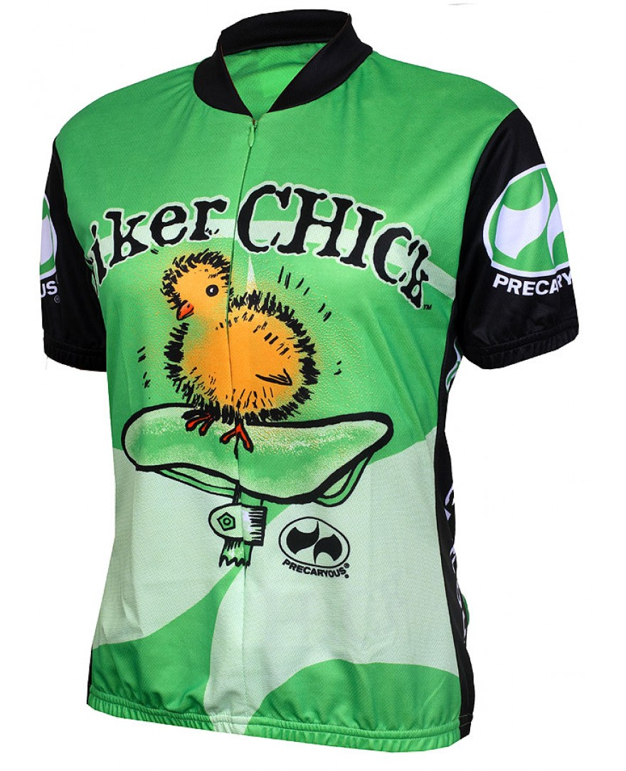 Precaryous Biker Chick Short Sleeve Jersey Lime