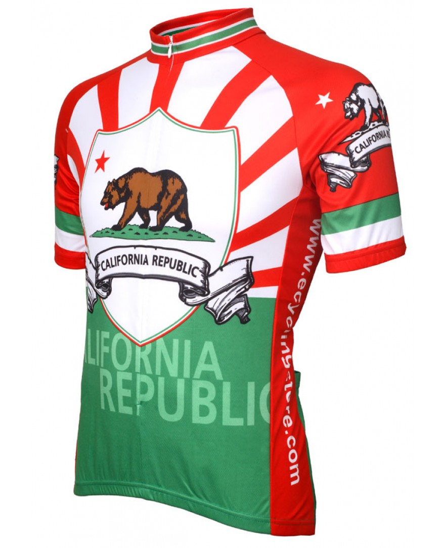 eCycle California Flag Cycling Jersey