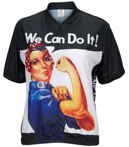 Rosie the Riveter Womens Cycling Jersey