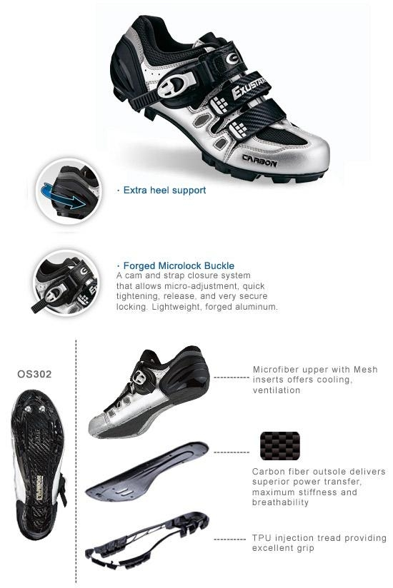 exustar shoe diagram